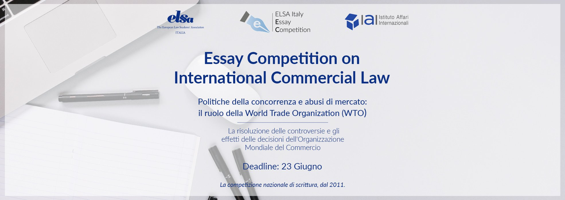 VIII edizione National Essay Competition – International Commercial Law