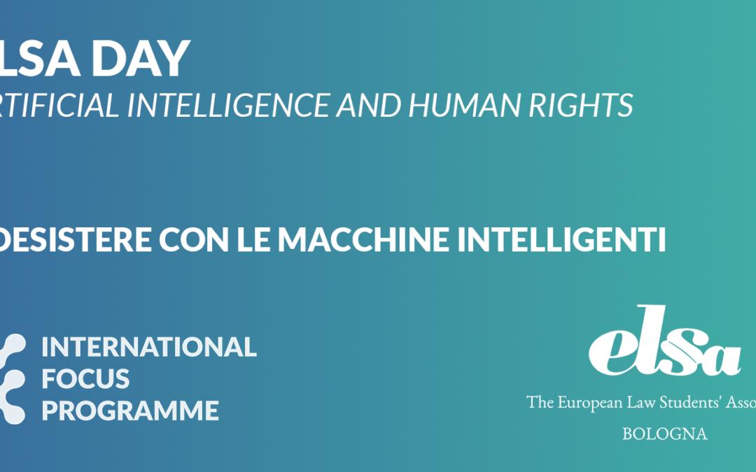 """""""Intelligenza artificiale e diritti umani: coesistere con le macchine intelligenti"""""""