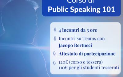 Corso di Public Speaking 101 con Jacopo Bertucci