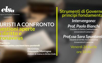 Seminario 'GIURISTI A CONFRONTO'