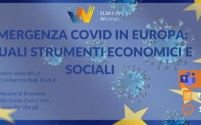 """Webinar """"Emergenza Covid in Europa: quali strumenti economici e sociali"""""""