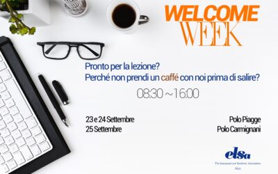 Welcome Week Settembre 2019