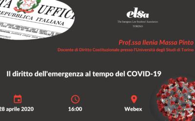 Il diritto dell'emergenza al tempo del COVID-19