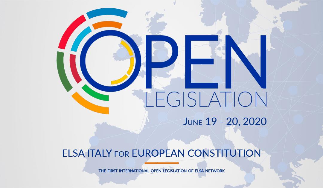 Open Legislation – ELSA Italy for European Constitution