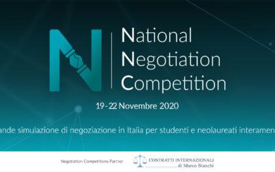 VI National Negotiation Competition – Cagliari 2020